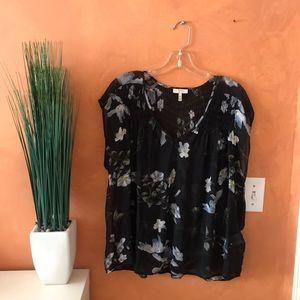 JOIE | floral silk blouse